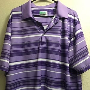 Purple Striped Ben Hogan Performance Power Polo 2X